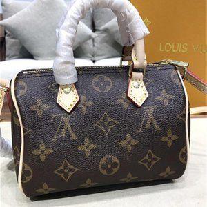 Louis Vuitton NANO SPEEDY tote bags ..M61252